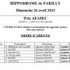 Résultats de la course du 26/04 - PARILLY