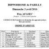 Résultats course école - 03 avril 2016 - Lyon Parilly