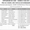 Résultats course école - Hippodrome de Caen - 21/05/2016