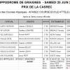 Résultats course école - 25 juin 2016 - Hippodrome de Graignes